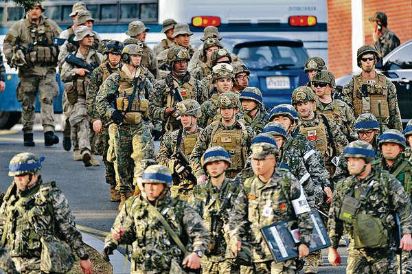 美韓32萬人軍演 朝威脅核攻擊