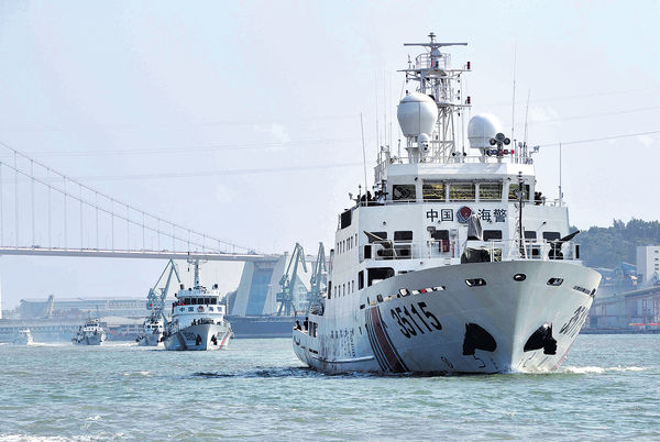 中國海警配萬噸巨艦 震懾鄰國