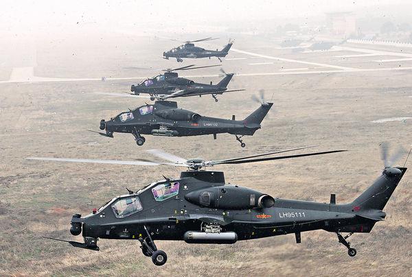 武直-10現身南海 爭奪低空控制權