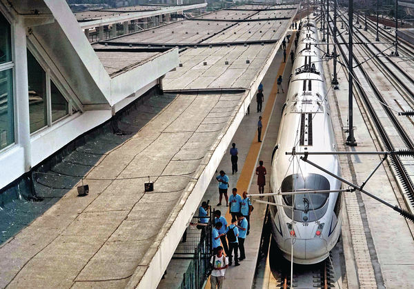 長三角高鐵首直通西北 上海往西安6小時