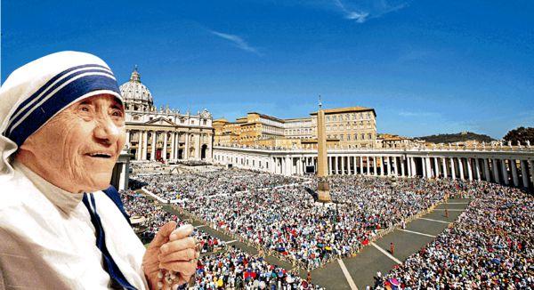 10萬信徒見證 德蘭修女封聖