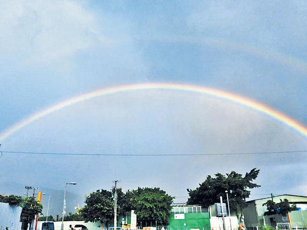 黃雨過後雙彩虹
