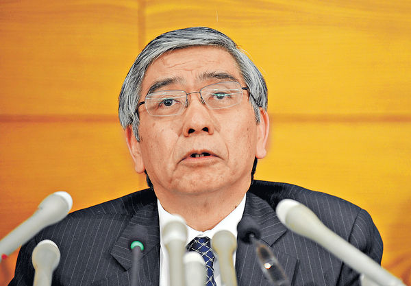 黑田東彥稱 有空間再推寬鬆幣策