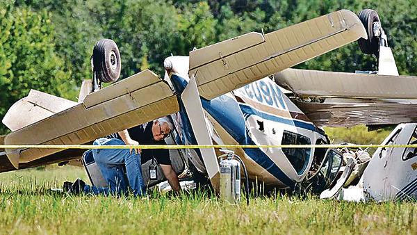 美兩架小型機相撞3死