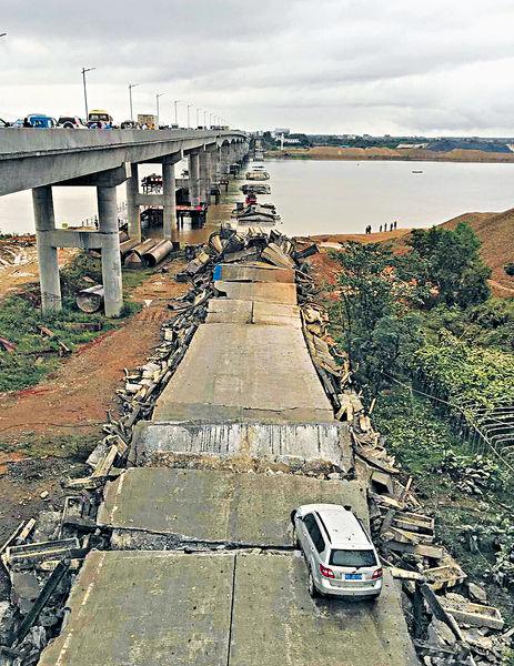 江西拆橋崩塌 至少5傷3失蹤