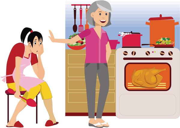奶奶擅自換走廚具 新抱不滿