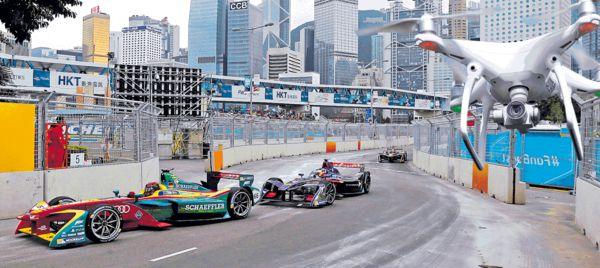 航拍Formula E 3男墮法網