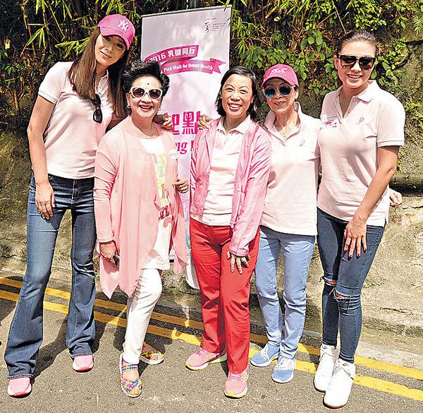 廖碧兒 琦琦 撐乳健籌款 化身Pink ladies支持