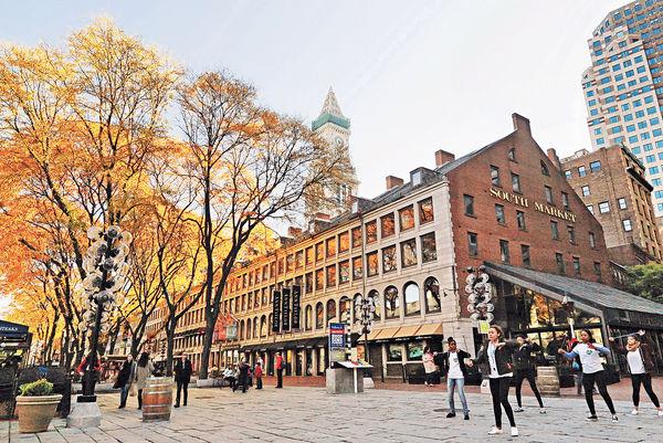 波士頓深秋 十月散步紅楓路