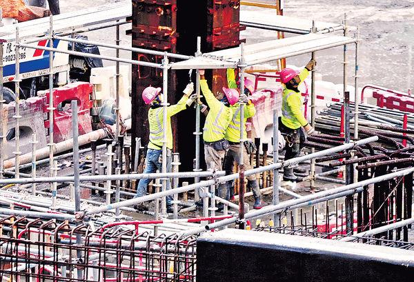 建造業加薪7.75% 混凝土工日薪$2500
