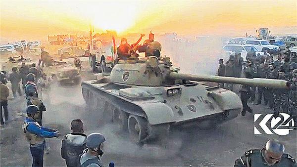 摩蘇爾圍剿IS 聯軍首日報捷