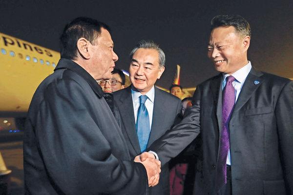 菲總統今晤習近平 料簽12項合作協議