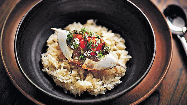$1生醃蟹肉海膽飯