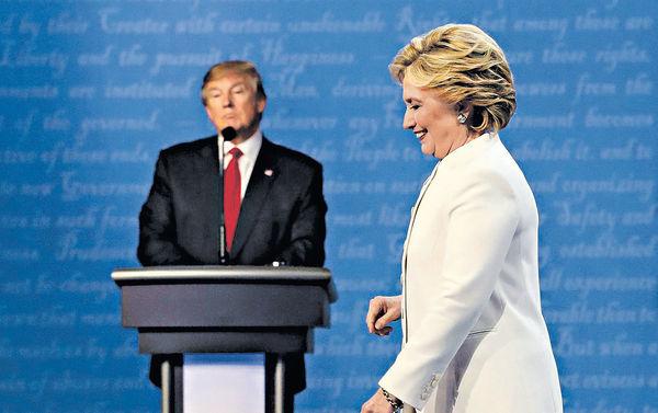 希拉里民望拋離特朗普12%