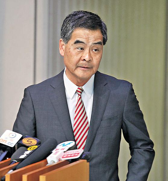 陳茂波任司長惹爭議 梁振英:做局長時已有成績