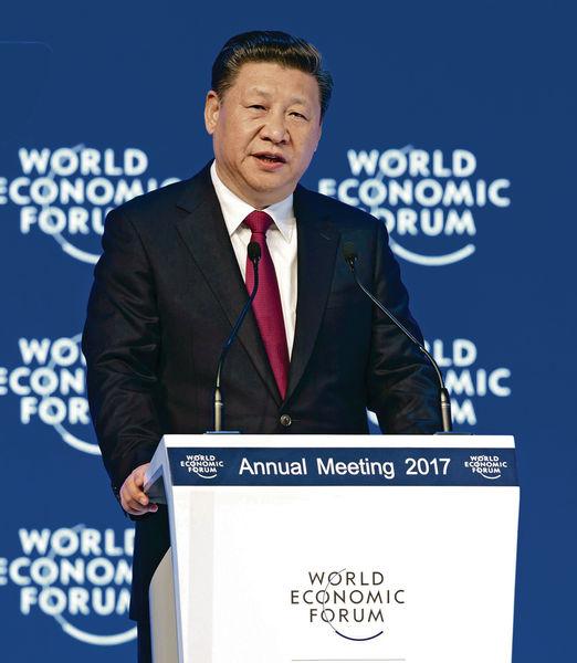 亮相達沃斯 反貿易保護 習近平力撑全球化