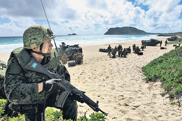 日自衞隊演習 模擬兩岸衝突