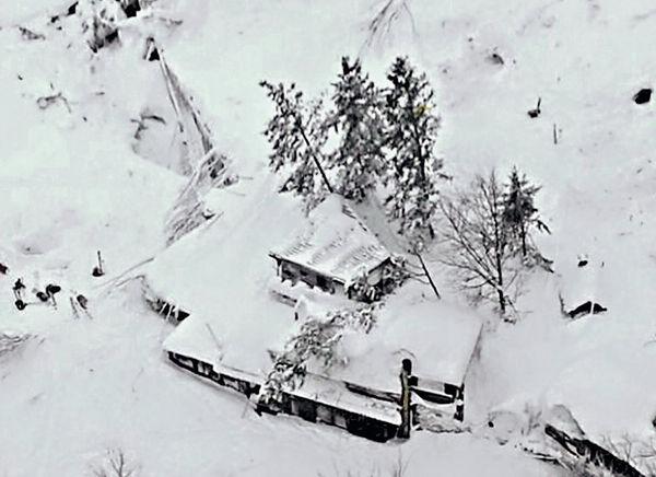 意地震爆雪崩 活埋酒店30住客