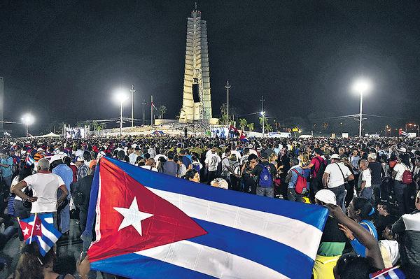 古巴集會追悼卡斯特羅