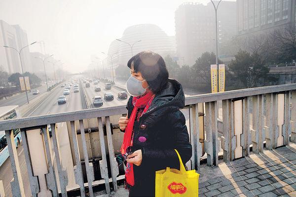 面積約1,288個香港 最強霧霾襲17省 1/7國土淪陷