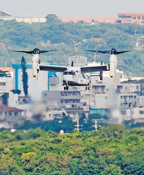 無視沖繩反對 美軍復飛魚鷹