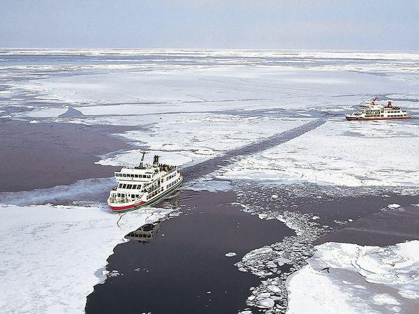 北海道網走 乘破冰船觀流冰