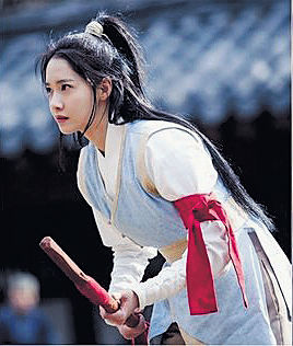 Yoon A為新劇習武
