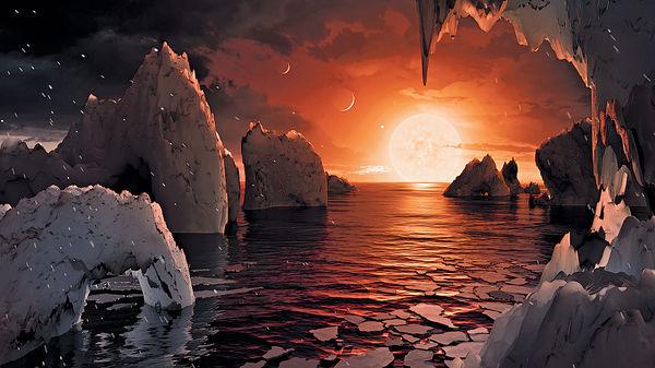 39光年外驚現迷你太陽系 類地球七行星疑有生命
