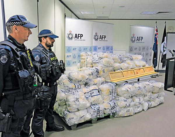 澳洲破最大冰毒案 疑從華偷運入境