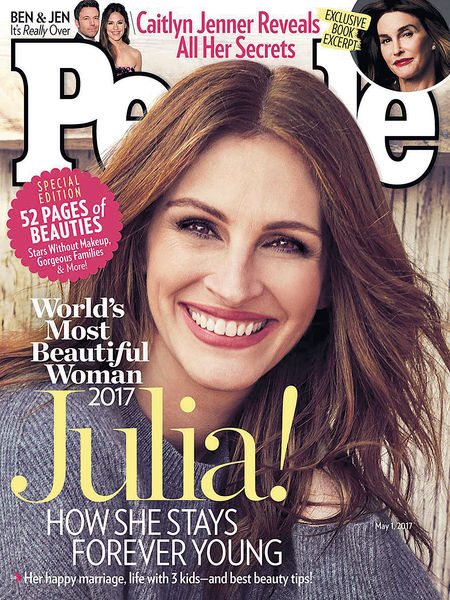 茱莉亞羅拔絲 5度膺全球最靚女性