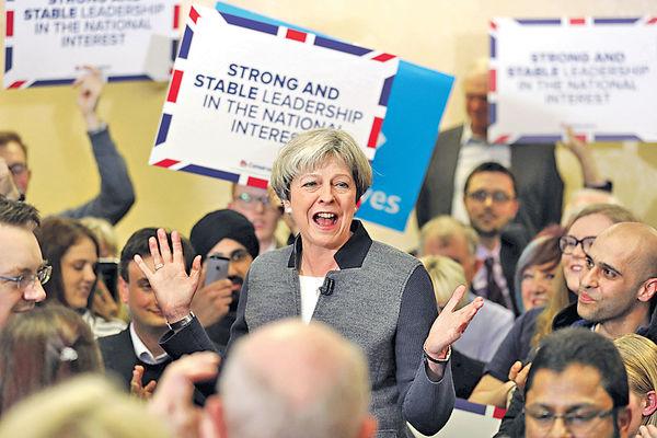 英保守黨民望26年高 領工黨一倍