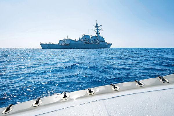 美艦闖美濟島 為新亞太戰略熱身