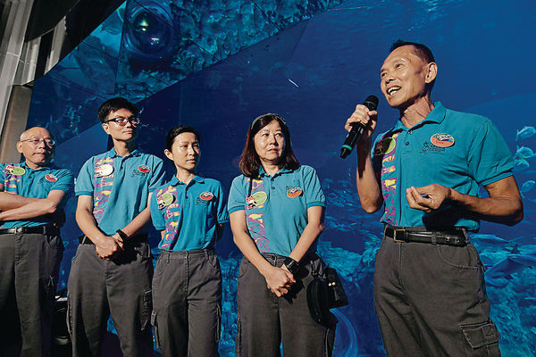 海洋公園義工計劃 退休族當導賞員 講解動物之美