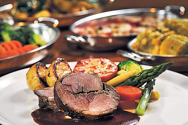 酒店烤肉晚市套餐 歎澳洲牛扒