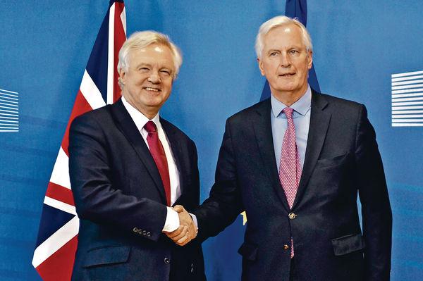 英國脫歐談判揭幕 先定時間表