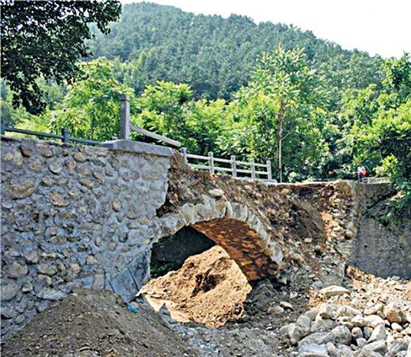 陝西便民橋 完工2小時即塌