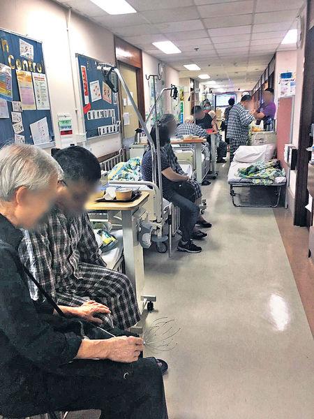 內科及老人科入住率達151% 流感殺到屯院逼爆