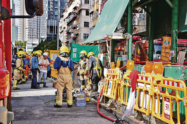 紅磡地盤罕見意外 爆水渠淹隧道 3工人溺斃