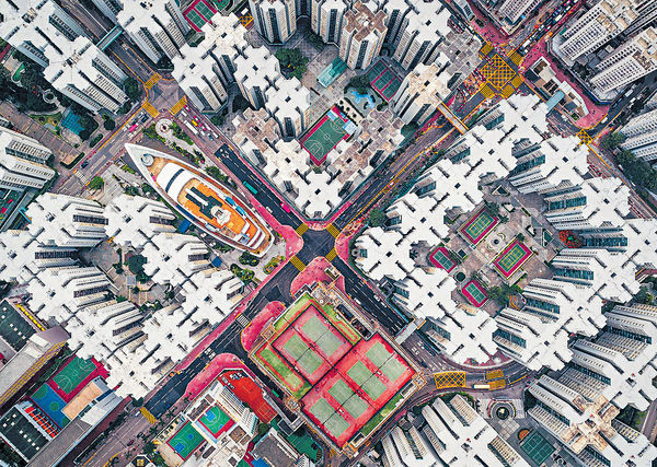 俯瞰黃埔見「圍城」 港攝影師奪國際獎