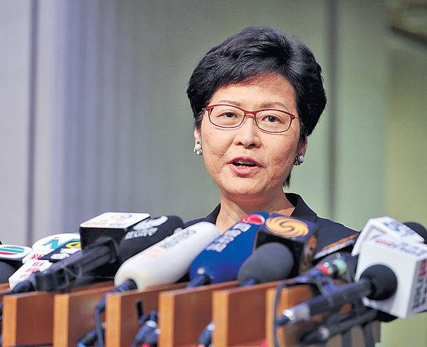覆核社運人士刑期 林鄭:非政治檢控