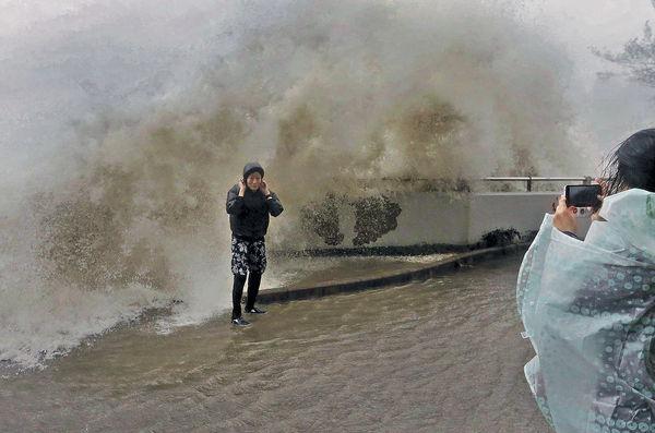 「天鴿」橫掃 杏花邨巨浪如海嘯