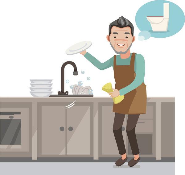阿爸用廁所水洗碗 家人呻噁心
