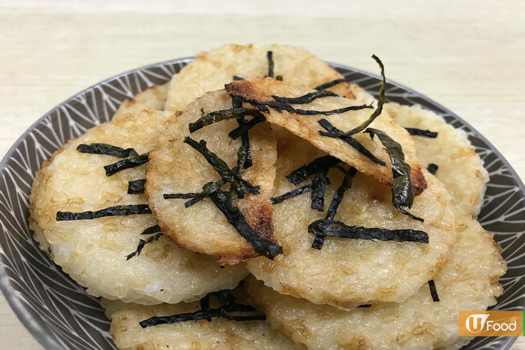 剩飯變小食!焗醬油味紫菜仙貝