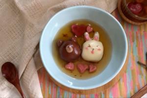 甜蜜又可愛!熊大兔兔朱古力湯圓