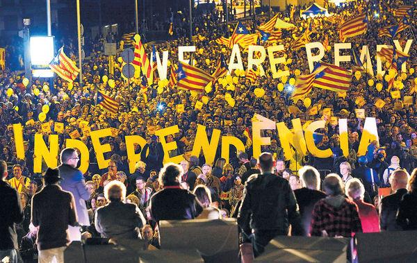 支持未過半 打壓變催票 西班牙封殺「加獨」公投