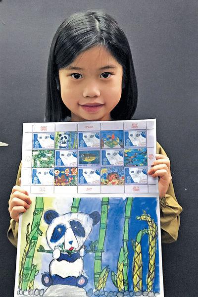 港6歲女童得獎畫 製歐洲郵票