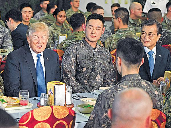 美韓首腦會 壓倒性武力制北韓