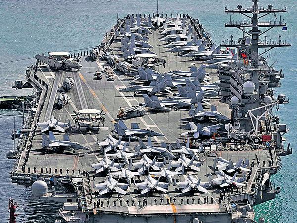 美軍3航母 周末「罕見」聯演