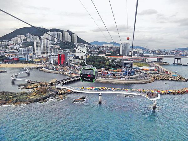 釜山跨海纜車 360°賞松島