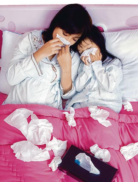 幼童患流感 新手爸媽易被傳染